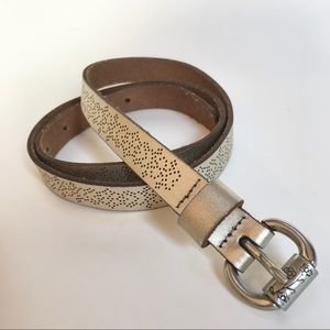 Fossil leather belt-M
